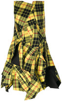 Junya Watanabe Comme Des Garçons plaid flared dress