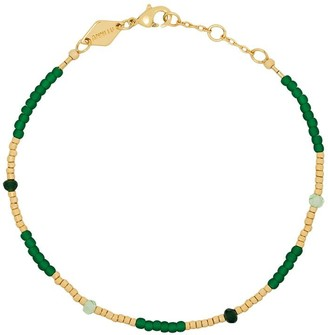 Anni Lu Clemence gold-plated beaded bracelet