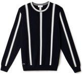 "Lacoste Men's ""made In France"" Vertical Stripe Cotton Crewneck Sweater"