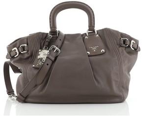 Prada Belted Side Pocket Tote Leather Medium