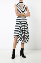 Derek Lam Sleevless V-Neck Dress with Collar Detail