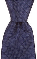 Roundtree & Yorke Grid Solid Narrow Silk Tie