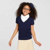 Cat & Jack Girls' Short Sleeve Pullover Sweater Cat & Jack - Nightfall Blue
