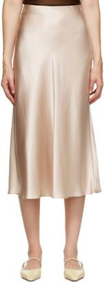 Le Kasha Beige Silk Aksou Mid-Length Skirt