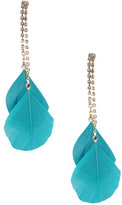 Rhinestone Trim Feather Earrings
