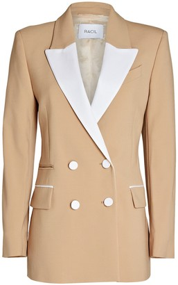 Racil Felix Double-Breasted Tuxedo Blazer
