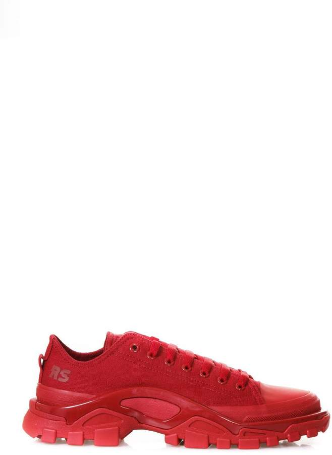 Adidas By Raf Simons Detroit Runner Red Sneakers