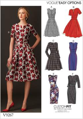 Vogue Applique Fit-And-Flare Dresses Sewing Pattern, 9267