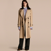 Burberry Deconstructed Cotton Gabardine Heritage Trench Coat , Size: 50, Yellow