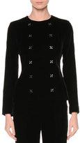 Giorgio Armani Double-Breasted Cross-Stitch Jacket, Black