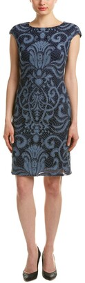 Julia Jordan Women's Sleeveless Placement Stretch Lace Body Con Shift Dress