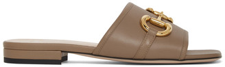 Gucci Beige Horsebit Dava Sandals