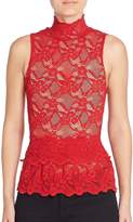 Nightcap Clothing Peplum Cutout Sleeveless Top - Scarlett, Size xs [x-small]