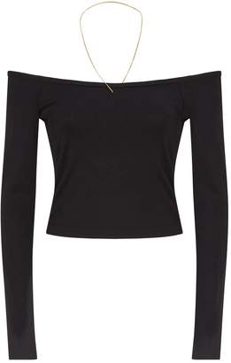 Alexander Wang Off-The-Shoulder Chain Top