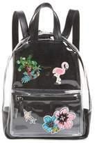 Hannah Banana Clear Appliqued Backpack