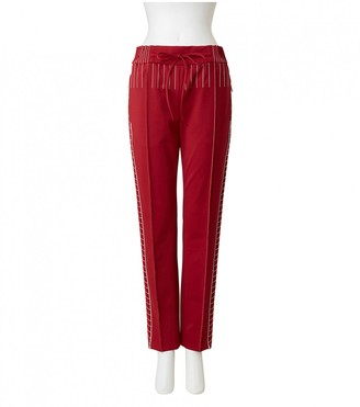 Valentino \N Red Cloth Trousers