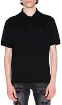 Alexander McQueen Tonal-Patch Piqué Polo Shirt, Black