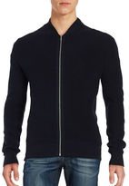Ben Sherman Ribbed Zip Up Sweater