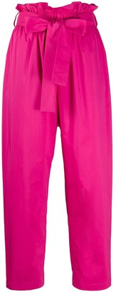 MSGM Paperbag-Waist Cropped Trousers