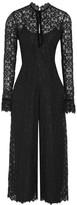 Temperley London Eclipse Velvet-trimmed Corded Lace Jumpsuit - Black