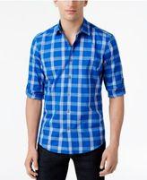 Alfani Big & Tall Men's Jacobs Plaid Cotton Shirt, Created for Macy's