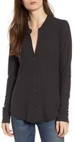 James Perse Women's Cotton & Linen Button Front Tee