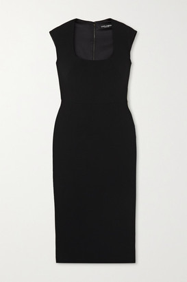 Dolce & Gabbana Crepe Midi Dress - Black