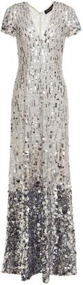 Jenny Packham Degrade Sequined Tulle Gown