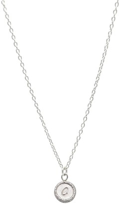 Lucy Ashton Jewellery Initial Tiny Disc Necklace Sterling Silver