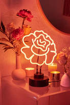 Urban Outfitters Cabbage Rose Neon Sign Table Lamp