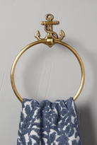 Anthropologie Brass Anchor Toilet Paper Holder