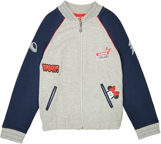 Minnie Mouse Patch Slogan Bomber Jacket, 3-12 Years