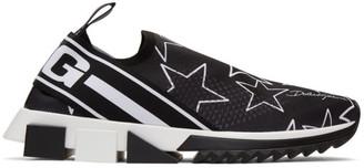Dolce & Gabbana Black Millennial Star Sorrento Slip-On Sneakers