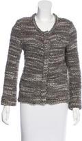 IRO Collarless Tweed Jacket