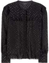 Isabel Marant Airy metallic fil coupé blouse