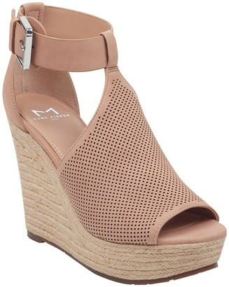 Marc Fisher Allison Perforated Espadrille Platform Sandal