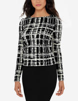 The Limited Eva Longoria Patterned Shirred Top