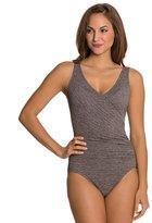 Penbrooke Krinkle Mock Surplice Chlorine Resistant One Piece Swimsuit 8122672
