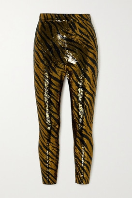 Balenciaga Sequined Stretch-jersey Leggings - Gold
