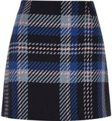 River Island Womens Blue check mini skirt