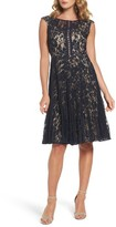 Gabby Skye Women's Lace Fit & Flare Dress