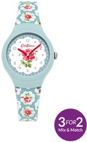 Cath Kidston Provence Rose Blue Off White Floral Printed Dial Blue Printed ' Provence Rose' Silico
