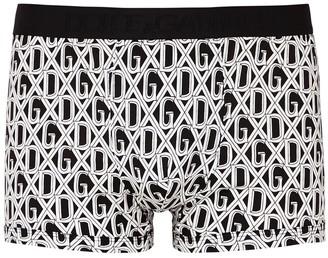 Dolce & Gabbana Monochrome Printed Cotton Boxer Briefs