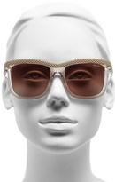 Jimmy Choo 'Reas' 56mm Rectangular Buckle Temple Sunglasses