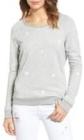 Sundry Women's Daisies Embroidered Sweatshirt