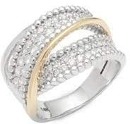 Saks Fifth Avenue Two-Tone Twist Diamond & 14K Yellow Gold Ring