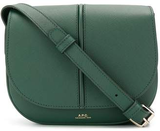 A.P.C. logo stamp satchel bag