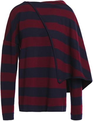Chalayan Draped Striped Jersey Top