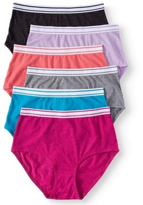 Secret Treasures women's cotton stretch brief panties, 6-pack