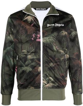 Palm Angels Leaf-Print Track Jacket
